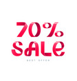 sale 70 percent off vector image