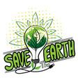 save earth logo design vector image