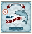 Seafood Retro Poster vector image vector image