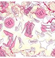 Seamless pattern with shoes and fashion vector image vector image