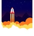 Space rocket launch vector image vector image
