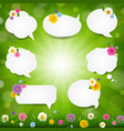 speech bubble big set with grass border vector image vector image