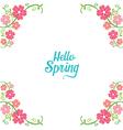 Spring Floral Decorating Frame vector image vector image