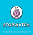 stopwatch colour icon in line design vector image