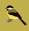 stylized tit bird flat style profile vector image vector image