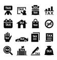 tax icon set vector image vector image