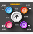 teamwork infographic black background vector image vector image