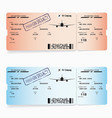 two templates of boarding pass tickets vector image vector image