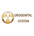 urogenital systemkidneys bladder emblemsymbol vector image vector image