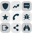 user icons set with find trend favorite and vector image