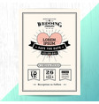 vintage wedding invitation save date card vector image vector image