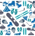 winter sports pattern icon vector image