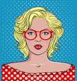 woman with glasses vector image