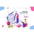 work bills form landing page vector image vector image