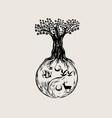 ying yang tree vector image vector image