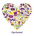 Carnival in heart vector image