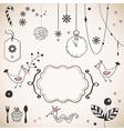 Christmas ornaments vector image