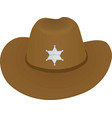 sheriff hat vector image