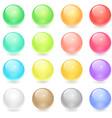 Circle Web Buttons vector image