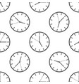 clock icon seamless pattern vector image