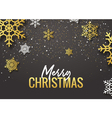 Merry Christmas poster design Retro gold vector image