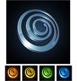 3d spiral emblems vector image vector image