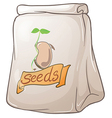 A pack of plant seeds vector image vector image