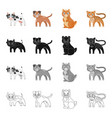 animals cow milk and other web icon in cartoon vector image vector image