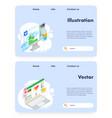 art website landing page design template vector image vector image