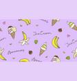 banana and ice cream