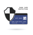 bank card protection vector image vector image