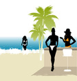 beach life vector image vector image