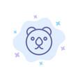 bear head predator blue icon on abstract cloud vector image
