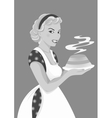 Beautiful girl with cake vector image vector image