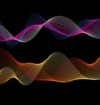 beautiful linear color waves vector image vector image