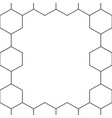 black honeycomb hexagon border on white background vector image
