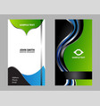 blue modern business card template vector image