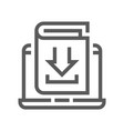 book flat line icon vector image vector image