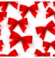 bow red tape texture seamless on white vector image vector image