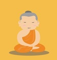 Buddhist Monk cartoon vector image