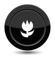 Button with flower vector image vector image