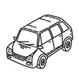 car icon doodle hand drawn or outline icon style vector image vector image