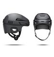 Classic black Hockey Helmet vector image vector image