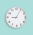 clock on mint background vector image vector image