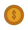 coin cash icon image vector image vector image
