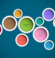 Colorful abstract gear wheels vector image vector image