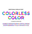 colorful font colorful bright alphabet and font vector image