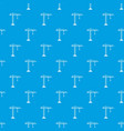 construction crane pattern seamless blue vector image