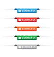 Contact us paper tag labels vector image vector image