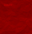 Creased red paper seamless texture vector image vector image